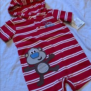 🔴3 for $10 - 6 month Monkey clothing with hood